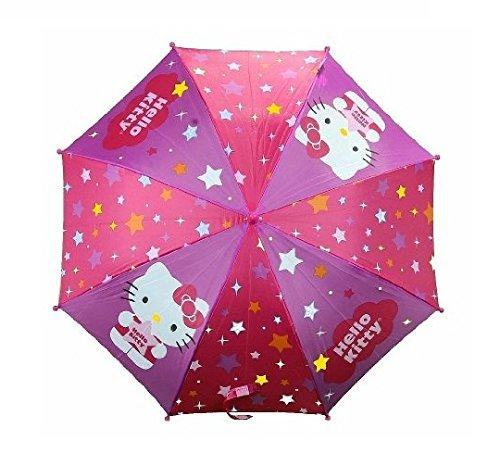 Hello Kitty FU3069234 Stars Pink & Purple Molded Handle Umbrella