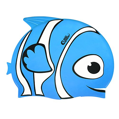 HeySplash Swimming Cap for Kids – High Elastic Silicone Waterproof Swim Cap for Youngsters, Boys, Girls – Lovely Cute Cartoon Style Swim Hat – DiZiSports Store