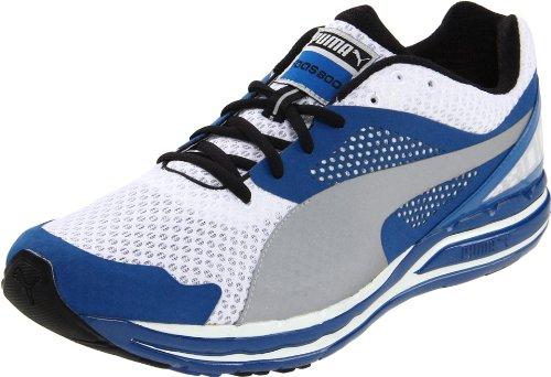 Scarpa da corsa Faas 800 Puma per uomo, bianca / argento / blu, 9 D US