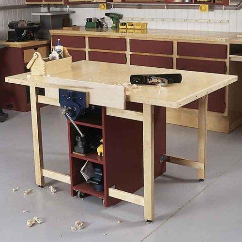 Drop-Leaf Workbench: Downloadable Woodworking Plan