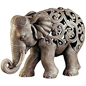 cute african elephant porch garden statue w lantern by things2die4 home kitchen. Black Bedroom Furniture Sets. Home Design Ideas