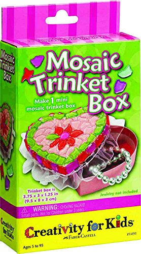 Creativity For Kids Mini Kit Mosaic Trinket Box