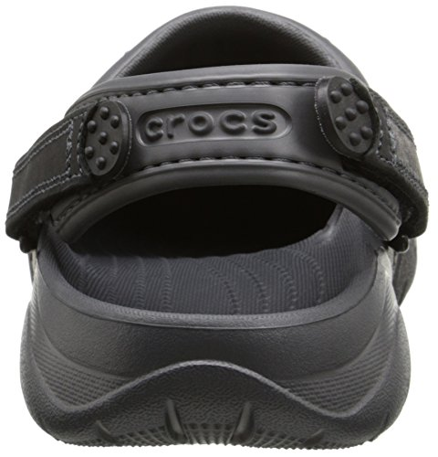Crocs Hombres Swiftwater Leather Clog Graphite / Black