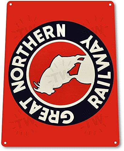 Train Tin Sign (TIN SIGN B616 Great Northern Railway Railroad Train Station Metal Decor)