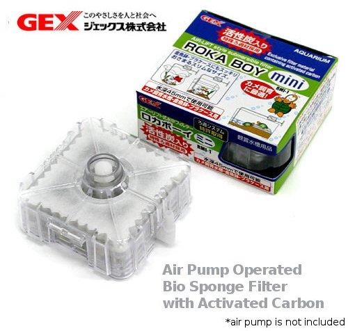 (GEX Roka Boy Roka Boy Mini Submersible Filter for nano small aquarium (air pump operated))