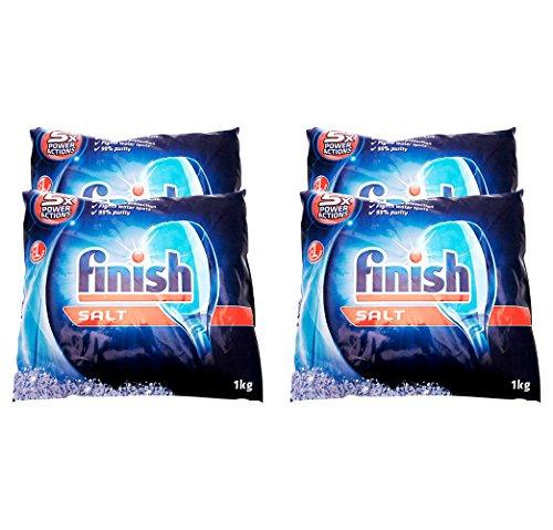 Dishwasher Salt - Finish Dishwasher Performance Salt Bag, 2.2 Lbs (Pack of 4)