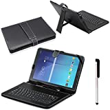 """Detachable Keyboard for Samsung Galaxy Tab E T560 9.6"""", Gotd PU Leather Stand Protective Case Cover for Samsung Galaxy Tab E T560 9.6inch and Other 9-10inch Tablet"""