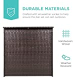 Best Choice Products 3-Piece All-Weather Wicker Bar