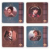 Vandor 81085 Outlander 4 Piece Ceramic Coaster Set, Multicolored