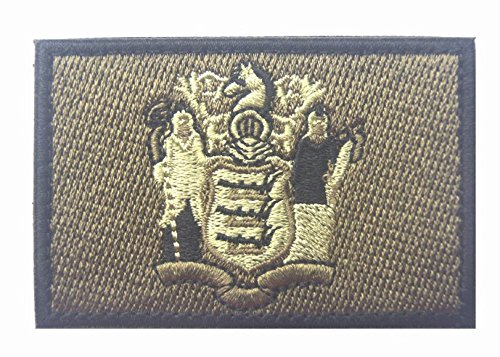 New Jersey State FLAG TACTICAL US ARMY USA MILITARY MORALE V