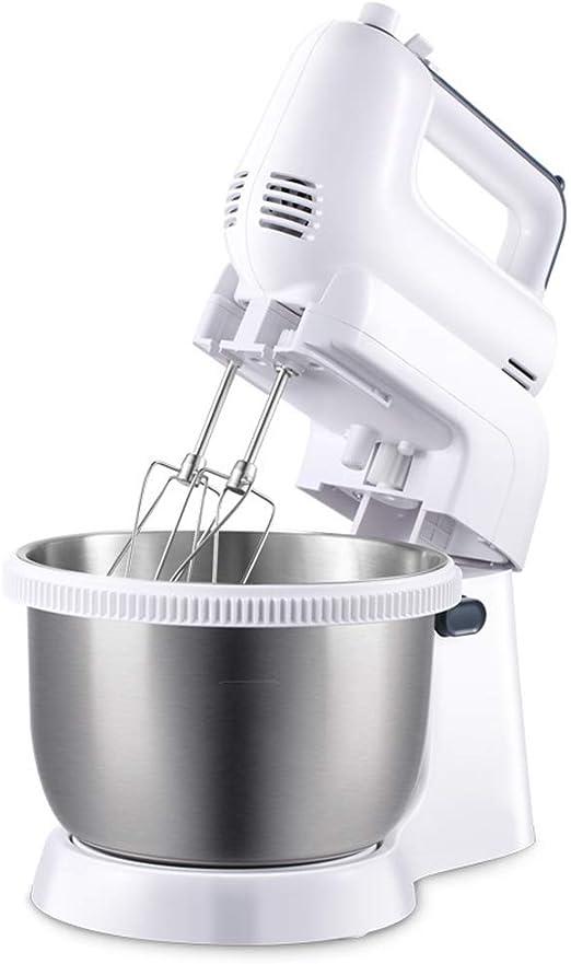 Batidora Amasadora Repostería Profesional 300W Robot de Cocina Multifuncional 5 Velocidades Amasadora de Bajo Ruido para Repostería Gancho Batidor Amasadoras de pan Mezclador electrico 3.4L: Amazon.es: Hogar