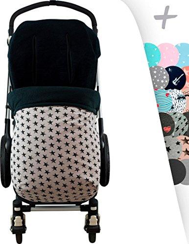 Janabebé Universal Baby Footmuff Sack for Pushchairs (Bugaboo, Graco, Cybex and More) (Dark Sky, Polar Fleece)