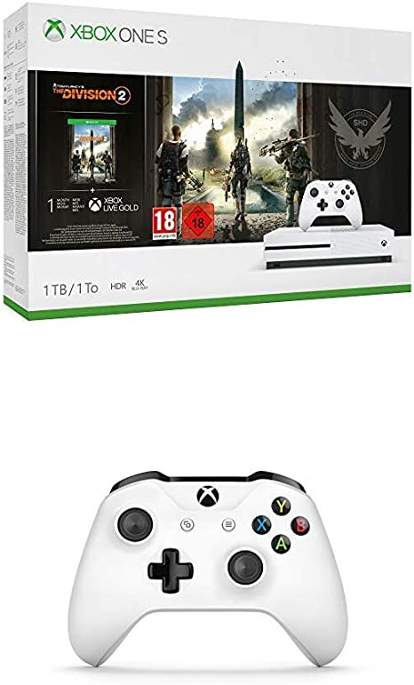 Microsoft Xbox One S - Consola 1 TB con División 2 + Mando Inalámbrico, Blanco (PC, Xbox One S): Amazon.es: Videojuegos