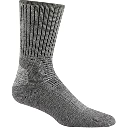 Wigwam Men's Hiking/Outdoor Pro Length Sock, Lt Grey Heather, Medium