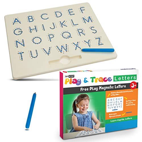 Preschool Abc Writing - Ivy Step Magnetic Alphabet Letter Tracing Board with Two Stylus Pens