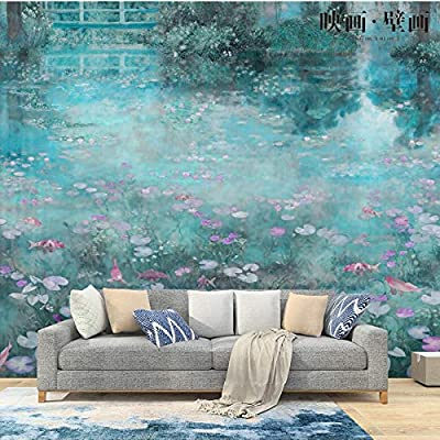 Wahazc Wallpaper Nordic Hand Painted Oil Painting Garden