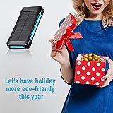 Solar Power Bank 30000 mAh, Wireless Portable