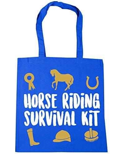 HippoWarehouse equitación Kit de supervivencia bolsa de la compra bolsa de playa 42cm x38cm, 10litros Azul Aciano