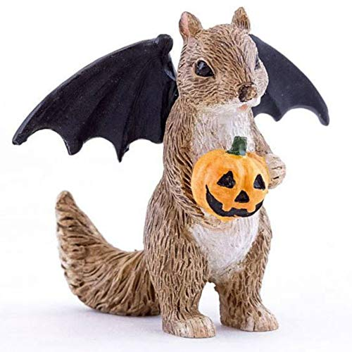 Top Land Trading Halloween Squirrel with Bat Wings for Miniature Garden, Fairy Garden -