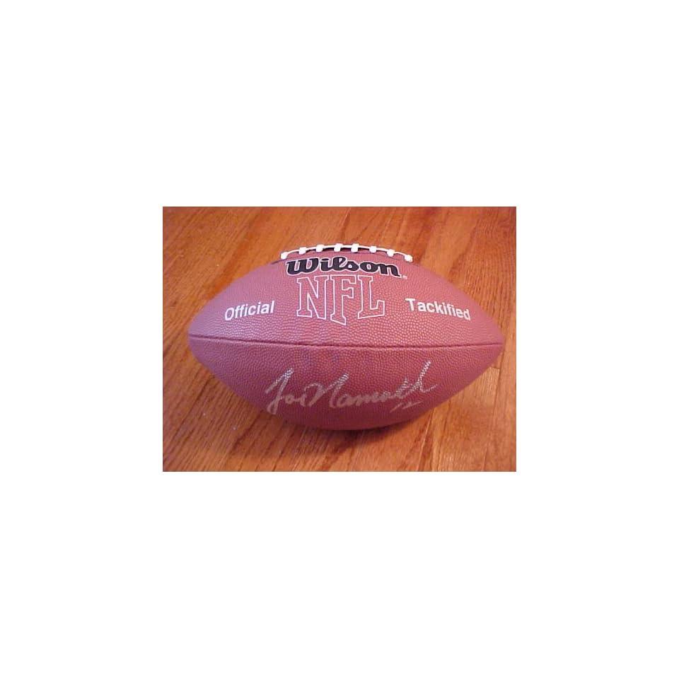 Joe Namath Hand Signed Autographed New York Jets Full Size NFL MVP Football
