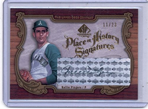 2006 SP Legendary Cuts Place in History Autographs #RF Rollie Fingers Auto /23 - NM-MT