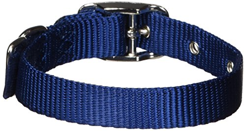 Hamilton 5/8-Inch by 12-Inch Single Thick Nylon Deluxe Dog Collar, Navy - Hamilton Collar Navy Dog