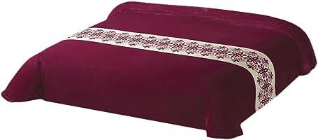 Colchas Concord CLTM0020 Cobertor Ultrasuave Aranza, color Vino