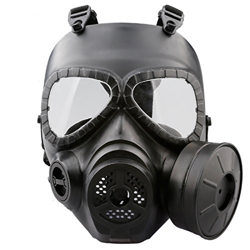 [A-SZCXTOP Tatical Full Face Paintball Mask Safety CS War Game Cosplay Outdoor Games Protective Mask Soft and Anti-impact with Exhaust] (Fan Costumes)