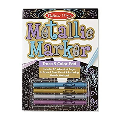 Melissa & Doug Metallic Marker Trace & Color Pad (Great Gift for Girls and Boys - Best for 3, 4, 5, 6, 7 Year Olds and Up): Paperback: Toys & Games