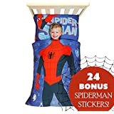 Spiderman Toddler Bedding Sticker Set Superhero Suit Bed