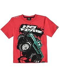 Kids Boys Moto Graphic T Shirt Junior Crew Neck Tee Top Short Sleeve
