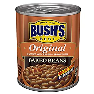 BUSH'S BEST Original Baked Beans, 8.3 Ounce Can (Pack of 12), Canned Beans, Baked Beans Canned, Source of Plant Based Protein and Fiber, Low Fat, Gluten Free