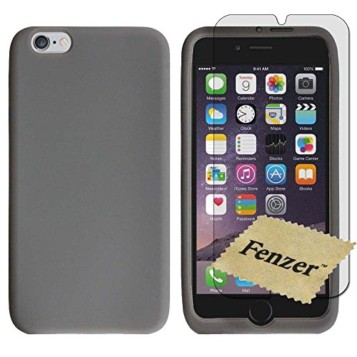Fenzer Gray Silicone Soft Rubber Gel Case Cover Skin for Apple iPhone 6 Plus 5.5