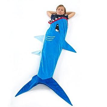 Amazoncom Echolife Shark Tail Blanket Super Soft Minky Shark - Sleeping bag shark