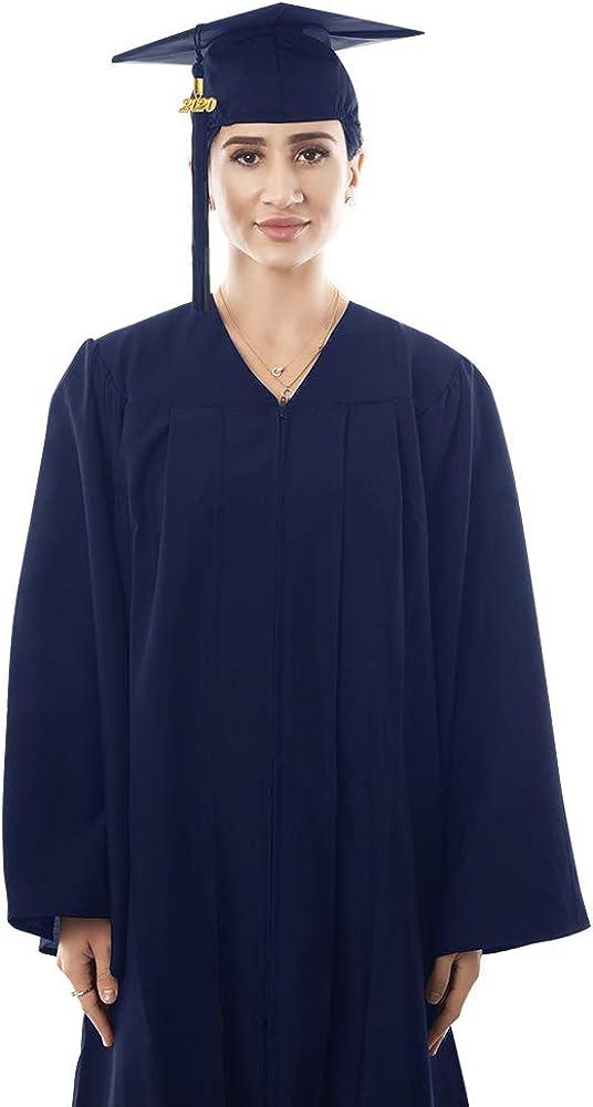 TICOZE Matte Graduation Gown Cap Tassel Set 2020 for High School and Bachelor