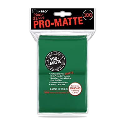 Ultra Pro Standard Deck Protectors - Pro-Matte Green (100 ct): Toys & Games