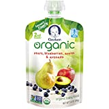 Gerber Organic 2nd Foods Baby Food, Pears, Blueberries, Apples & Avocado,...