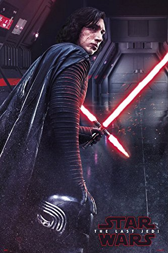 Star Wars: Episode VIII - The Last Jedi - Movie Poster / Print (Kylo Ren With Lightsaber) (Size: 24