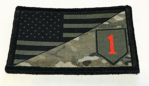 try Division USA Flag Morale Patch Tactical Military. 2x3 Hook Velcro Made in The USA Perfect for Your Rucksack, Pack Bag, Molle Gear, Operator Hat Or Cap! ()