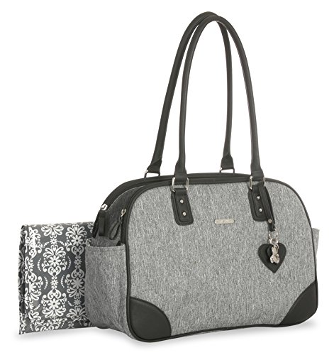 Little Me Heather Duffel Diaper Bag, Grey Lexington Diaper Bag