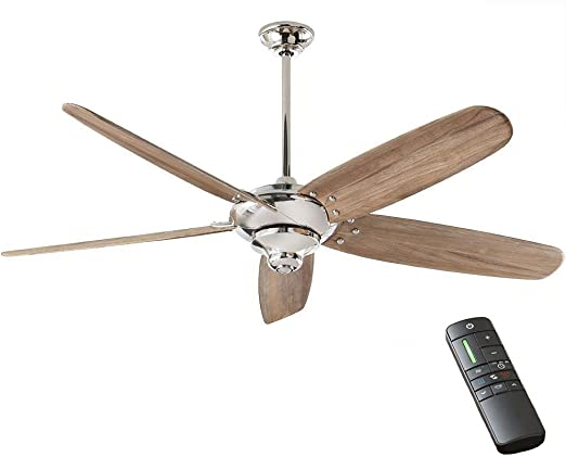 Amazon Com Home Decorators Collection Altura Dc 68 In Indoor Polished Nickel Ceiling Fan Kitchen Dining