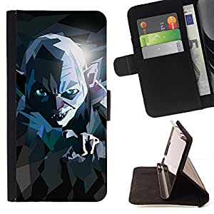 For Samsung ALPHA G850 Lord Movie Poster Stylized Evil Ring Creature Style PU Leather Case Wallet Flip Stand Flap Closure Cover