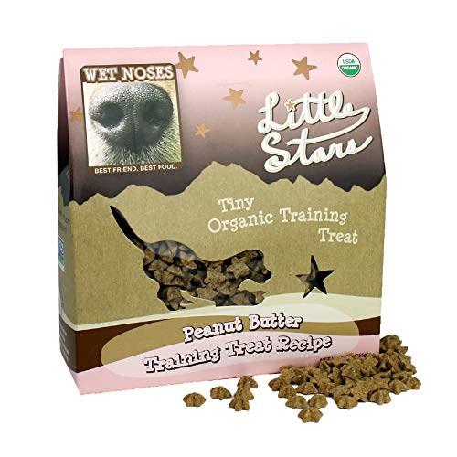 Wet Noses Little Stars All Natural Dog Treats, Made In Usa, 100% Usda Certified Organic, Non-Gmo Project Verified, 9 Oz, Peanut Butter Flavor