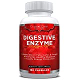 Digestive Enzymes 180 Veggie Capsules, Best Supplement with Probiotics, Natural Vegan Friendly, 3 Month Supply (180)