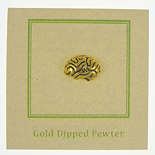 Brain Gold Lapel Pin - 100 Count by Jim Clift Design (Image #2)