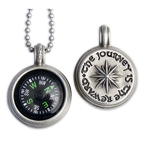 The Journey is the Reward Compass Pendant