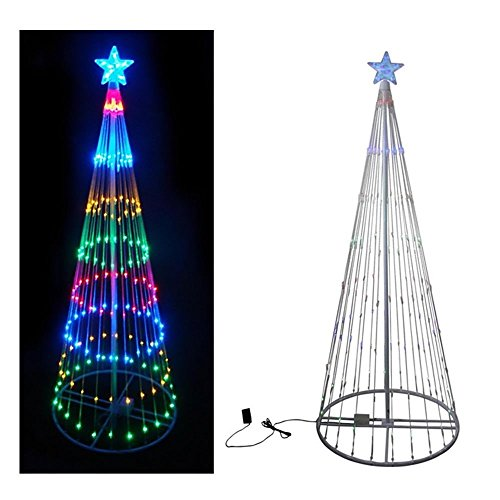 Multi Color Led Light Show Cone Christmas Tree