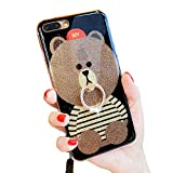 Best Case for iphone 6 iPhone 6 Cases - iPhone 6 Plus Glitter Case, 3D Teddy Bear Review