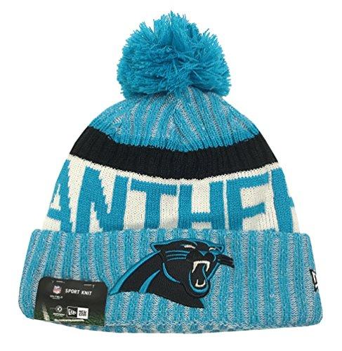 New Era Carolina Panthers NFL Sideline On Field 2017 Sport Knit Beanie Beany Mütze Grey (New Era Beanie)