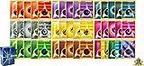 Pokemon 50 Card Energy Lot - 5 of Each Basic Energy Plus 5 Foil Energy! Includes Golden Groundhog Box!